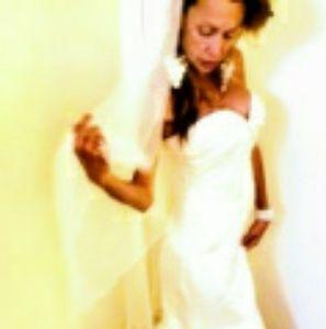 Wedding gown/veil